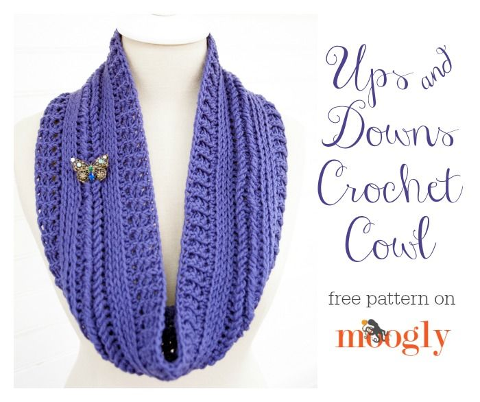 Ups en Downs Cowl - gratis #crochet patroon op Mooglyblog.com!