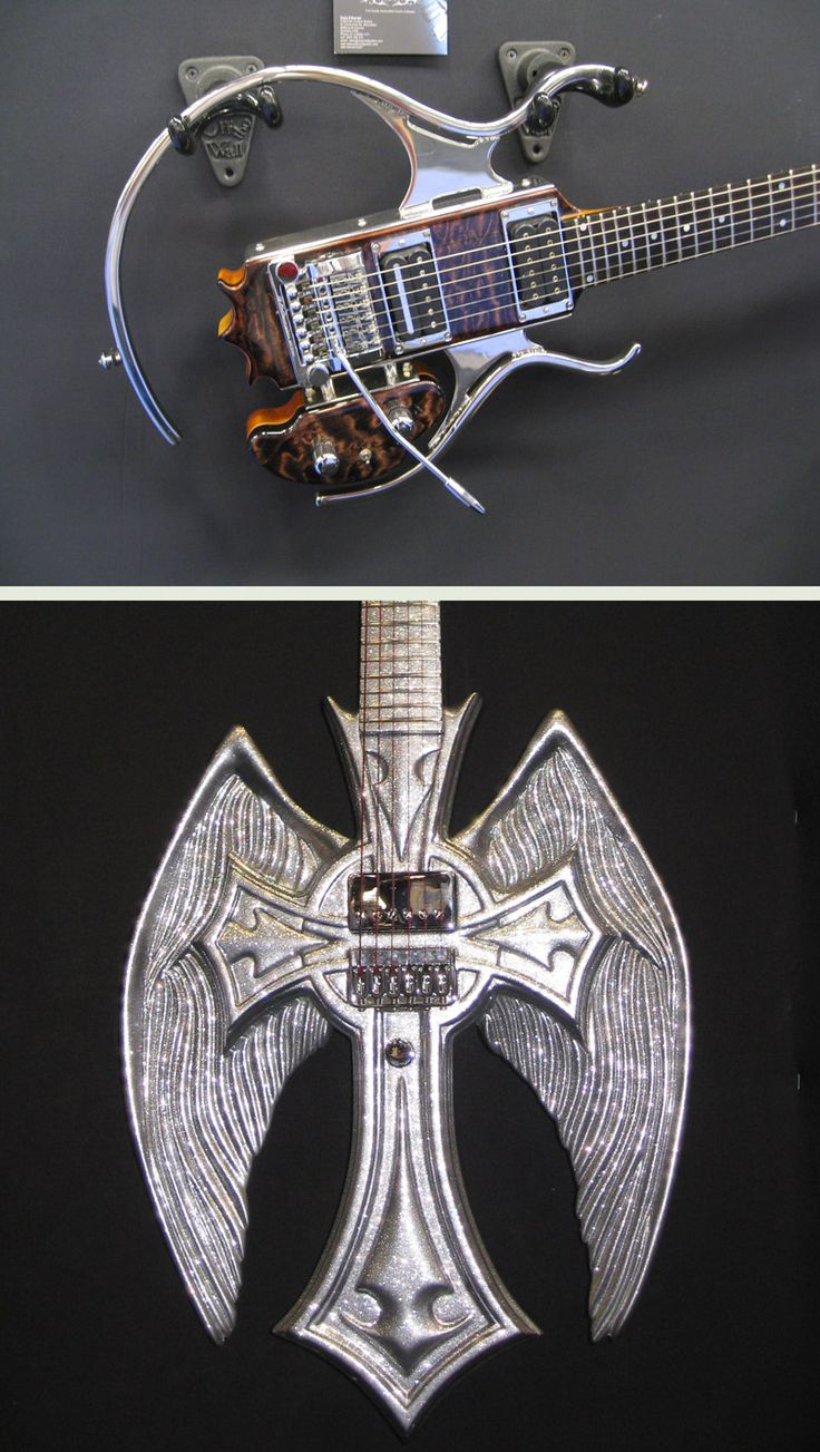 There's metal, and then there's METAL.. O'Donnell Custom Guitars work at NAMM 2012