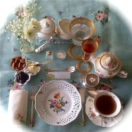Afternoon Tea step-by-step instructions on how to set a proper table for afternoon tea. It is easy because every item has a purpose for its place.