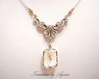 Art Deco collana collana di cristallo di di TheExquisiteBride