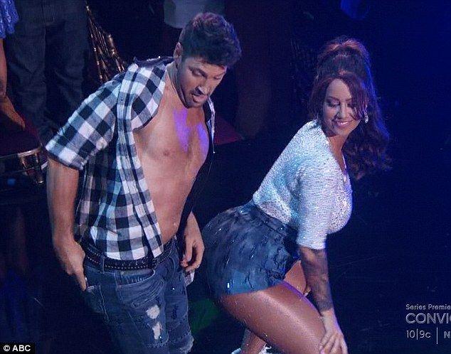 Twerking it: Amber twerked against Maksim Chmerkovskiy during her Dancing With The Stars routine on Monday