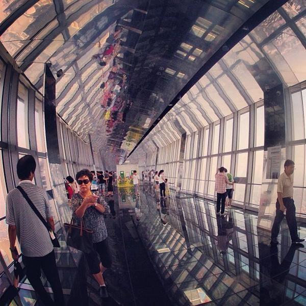 t Sky Walk 100 - #Shanghai World Financial Centre