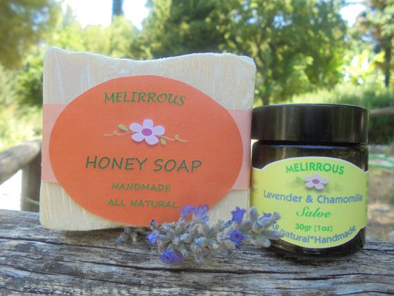Set Salve of Lavender and Chamomille Healing by MelirrousBees
