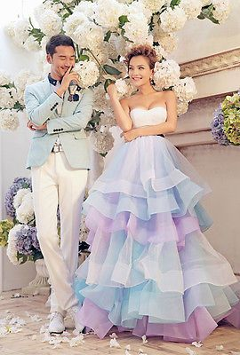 NEW Sweetheart Train Wedding Dresses Quinceanera Formal Prom Party Pageant Gown