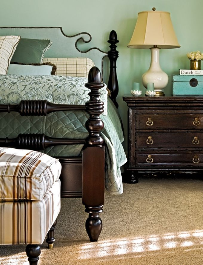 Love the bed!  House of Turquoise: Wall Colors, Decor, Ideas, Bedrooms Design, Traditional Bedrooms, Crisp Architects, Master Bedrooms, New York, Photo