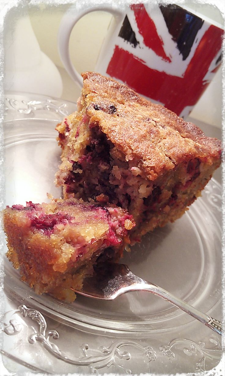 Gluten-Free, Dairy-Free Coconut Blackberry Cake is fast and easy to make in your Thermomix