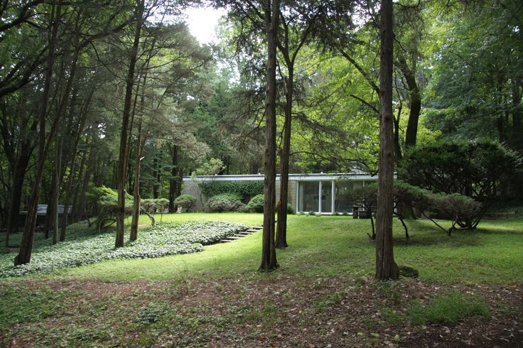 The first house designed by Philip Johnson has been put up for sale by its owners, after 55 years living in the Upstate New York residence.