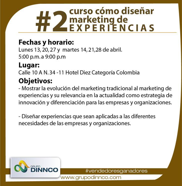 Con ustedes información sobre #2 curso cómo diseñar marketing de experiencias #vendedoresganadores