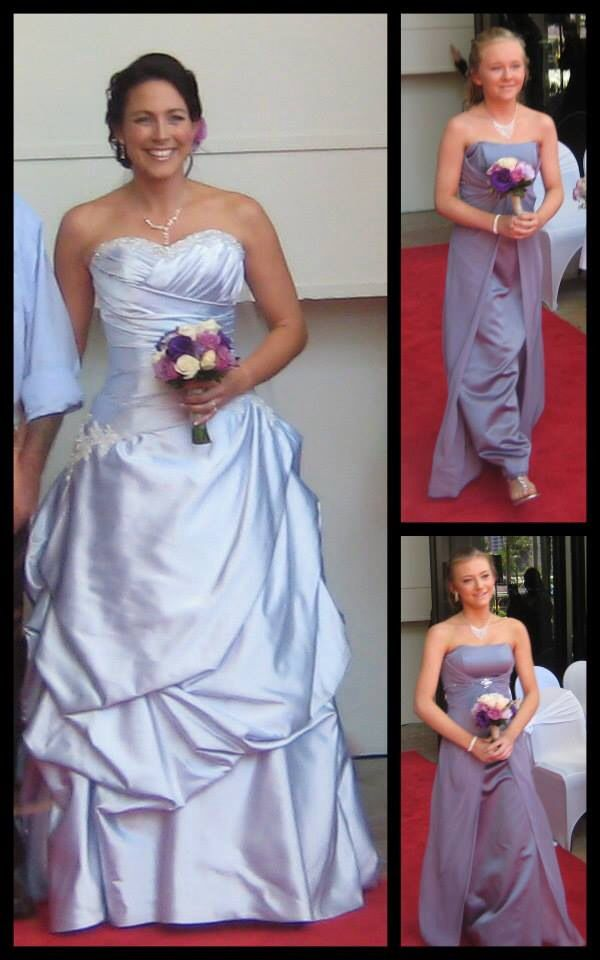 Jacinta, Emily and I as we started down the isle. Photos and collage by Jonno's sister Kirsty Marshall