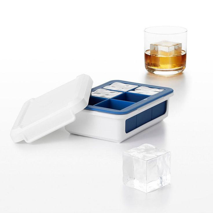 OXO Good Grips Large Cube Covered Silicone Ice Cube Tray, Green