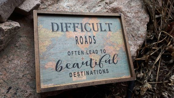 Travel decor/The World awaits wood sign/Map Decor/wooden quote block/travel themed nursery /vintage travel / travel gift/ graduation gift/