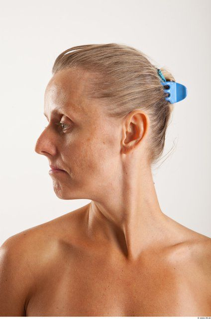 PHOTO OF HEAD WOMAN ANIMATION REFERENCES WHITE SLIM WRINKLES
