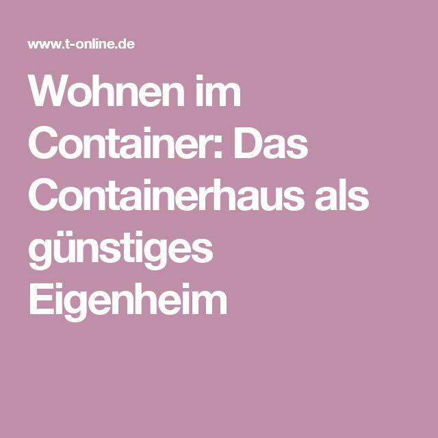 Containerhaus Eigenheim für unter 15.000 Euro (mit