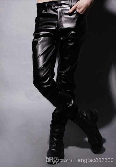 Wholesale Pans - Buy Special Spring Models Genuine Leather Pants Korean Version of Cultivating Wild Pants Mens Black Leather Pants Tide Male Korean Wave, $29.44 | DHgate