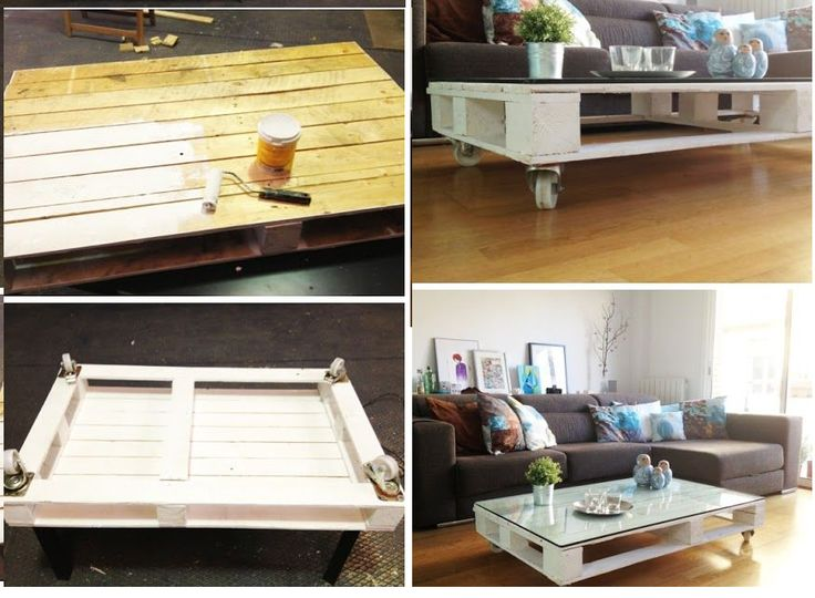 DIY pallet table! it's super easy to do and will cost you very little …and use some recycled materials!