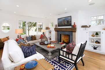 Lido Island Living Room - eclectic - living room - orange county - Blackband Design