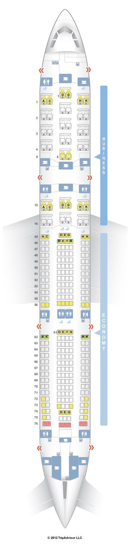 SeatGuru Seat Map South African Airways Airbus A340-300 (343)