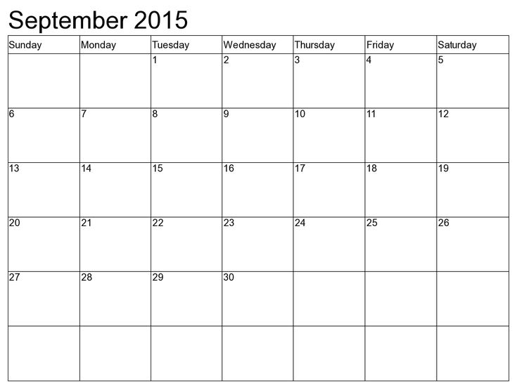 full page calendar sept 2015 - Google Search