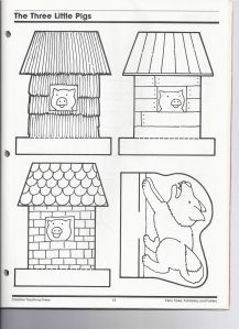 3 Pigs project - printables for the characters, houses and story sequence