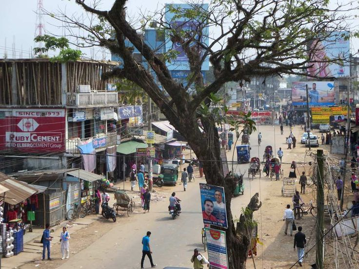 Railway Station Road is one of the main streets of Srimongal, Bangladesh.