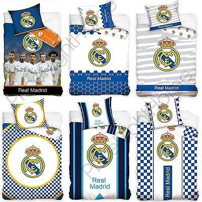 OFFICIAL REAL MADRID SINGLE & DOUBLE DUVET COVERS FOOTBALL BEDDING NEW FREE P P | Bedding Sets & Duvet Covers | Bed Linens & Sets - Zeppy.io