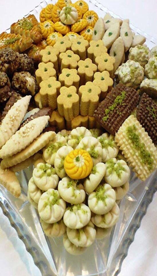 Persian sweets. Beautiful presentation