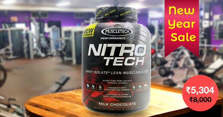 Unbeatable price on MuscleTech NitroTech 4Lbs Chocolate Whey Protein.  #NewYearSale #2017 #MuscleTech #Supplements #Protein