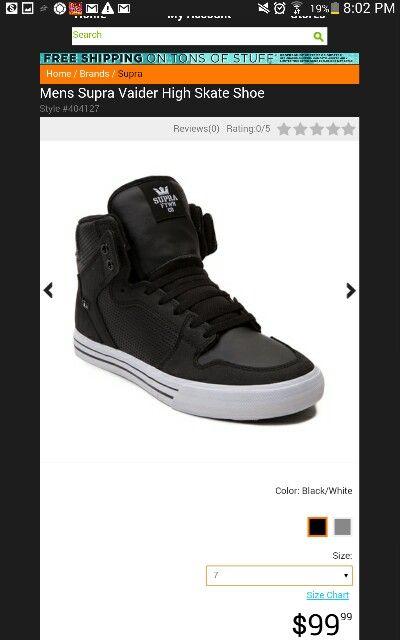Supra Vaider High Skate Shoe $100