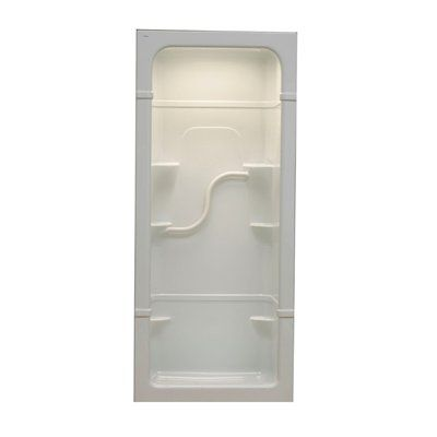 Mirolin Madison 38-in W x 34.25-in L x 84.5-in H White Acrylic Shower Wall Surround Side and Back Walls