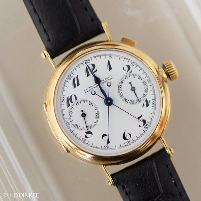 The first #patekphilippe split seconds chronograph, ever. Dating to 1923, it changed Patek history books. It's also the direct inspiration for the modern 5959. Story on HODINKEE.  (at www.hodinkee.com)
