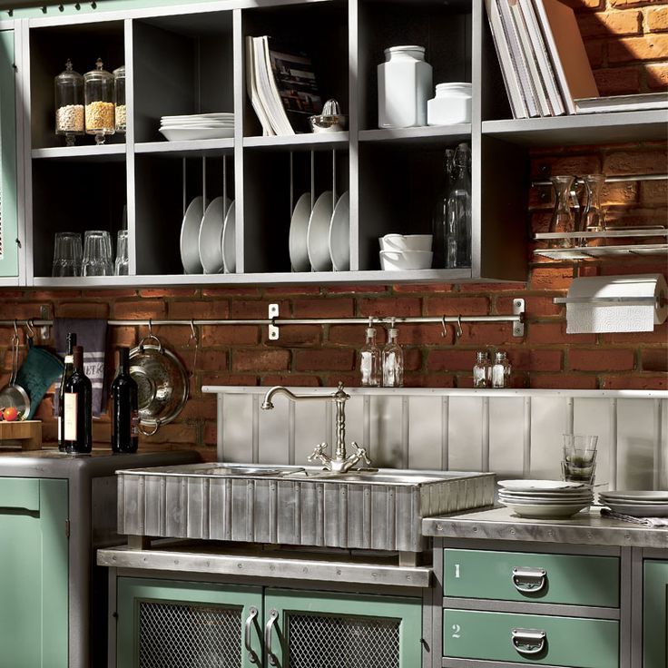 32 best Cucine images on Pinterest   Small kitchens, Tiny kitchens ...