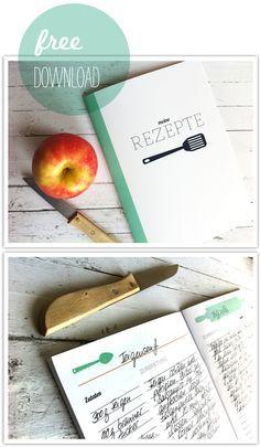 Rezeptheft - downloadable recipe book - ideal for writing out all your favourite German recipes - auf Deutsch natürlich!