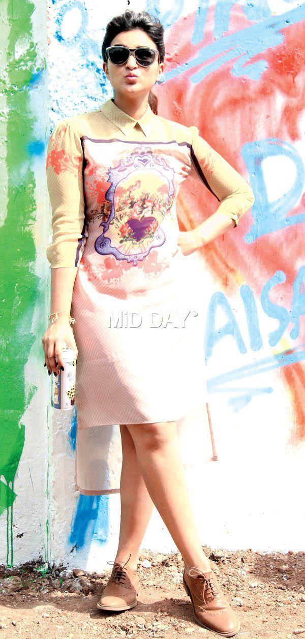 Parineeti Chopra in Mahim to Promote Kill Dill