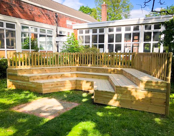 School Playground Amphitheatre Timber Stage in 2020