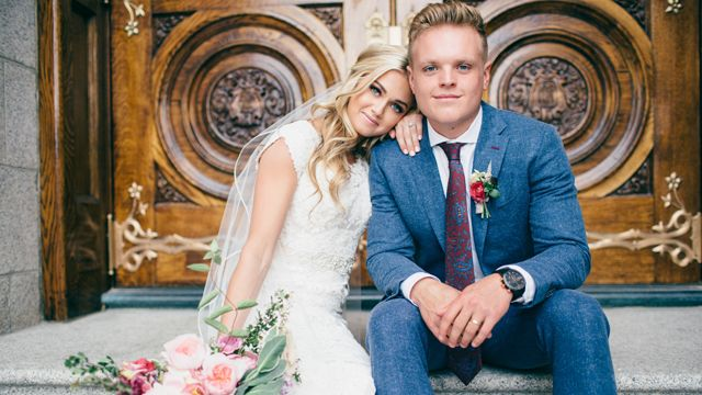 """Celeb"" Wedding: 'DWTS' Pro Lindsay Arnold Marries Longtime Boyfriend Sam Cusick"