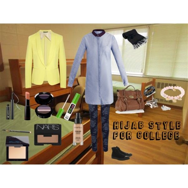 """""""Hijab style for college"""" by fabsmusician on Polyvore"""