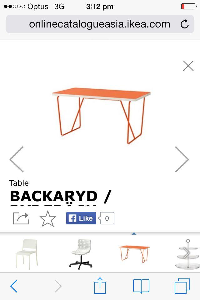 Orange dining retro table