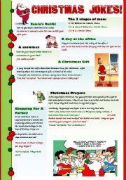 Английский Worksheets: РОЖДЕСТВО АНЕКДОТЫ ДЛЯ ВЗРОСЛЫХ !!!!  - Хорошая коллекция рождественские шутки для взрослых студентов и преподавателей