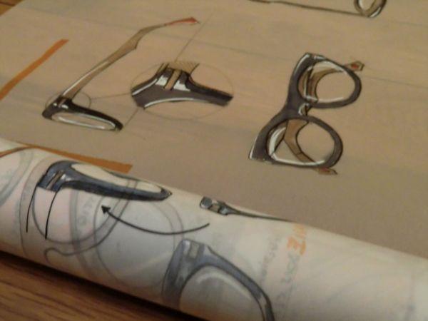 Eyeglasses - sketches by Emeline Surgé, via Behance