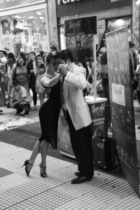 Tango in the street, Buenos Aires by Posquito