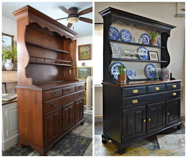Heir and Space: A Vintage Hutch in Black and Cream