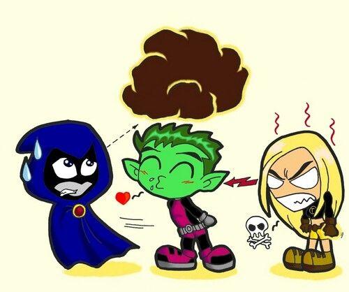 Chibi Raven, Beast Boy  Terra  Chibi Superheroes -6712