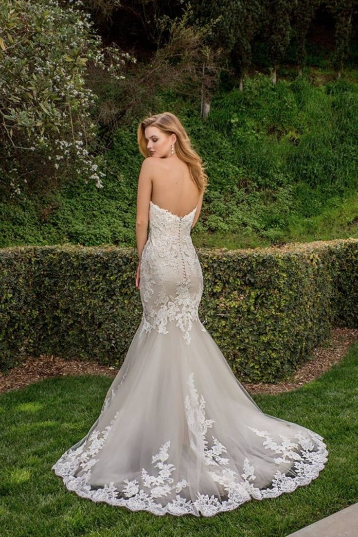 Beautiful detailing on the back of the Jin gown, by