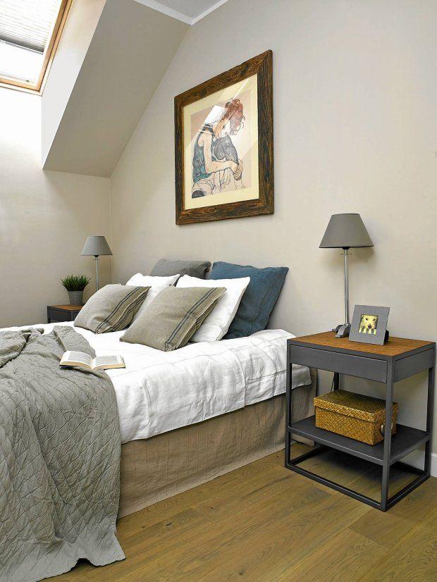 Stonowana i prosta sypialnia