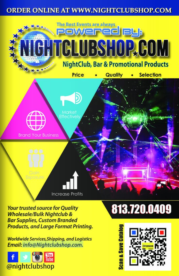 Right in Time for the #HOLIDAYS! Check out the new Nightclubshop  ONLINE CATALOG for your Promo and Party needs! http://www.nightclubshop.com/online-catalog/