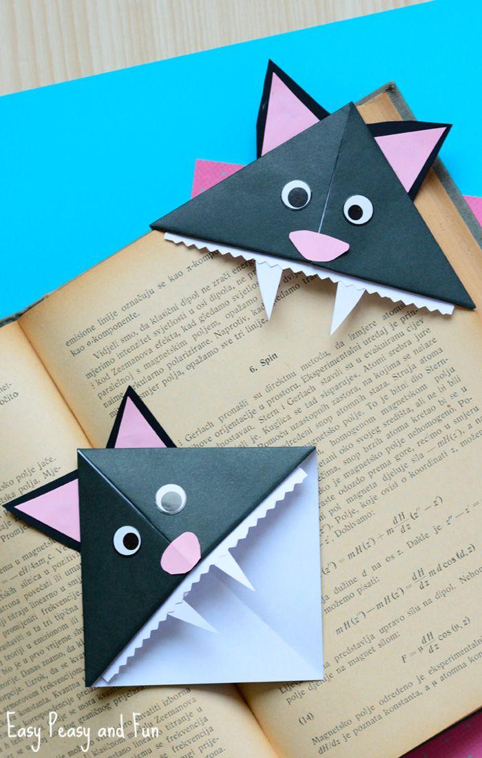 Cat Corner Bookmarks – Halloween Origami for Kids