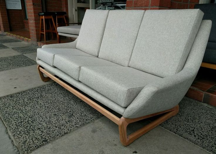 Retro Danish Deluxe 3 Seater Couch Recovered