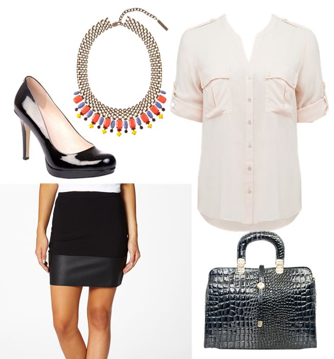 Leather skirt - office style