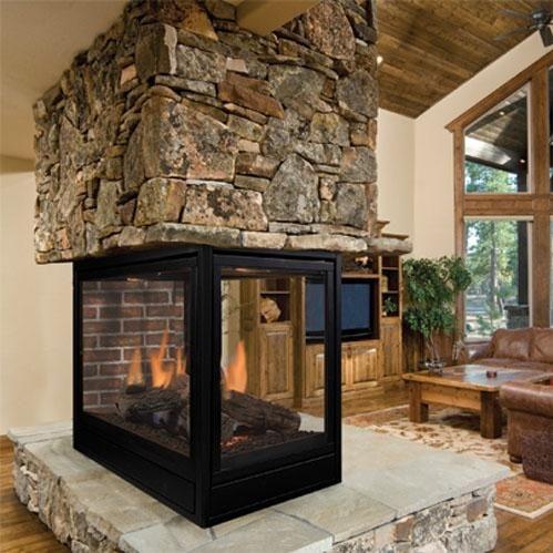 monessen pfldvpsc arlington series 36inch propane direct vent peninsula designer fireplace system with signature