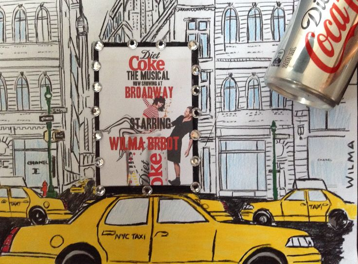 """""""Diet Coke: The Musical"""" now showing at Broadway. Starring the light on her feet and ever talented singer and dancer.....Wilma Brbot"""